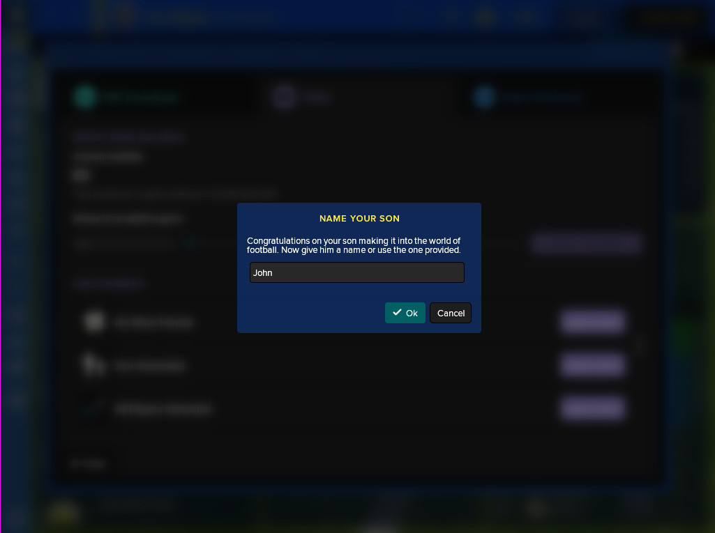 How To Get A Son In Football Manager