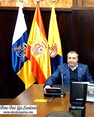 El presidente de la UD Las Palmas ha sido detenido esta mañana a su llegada al aeropuerto de Gran Canaria por la Policía Nacional / Fotógrafo: José Luis Sandoval