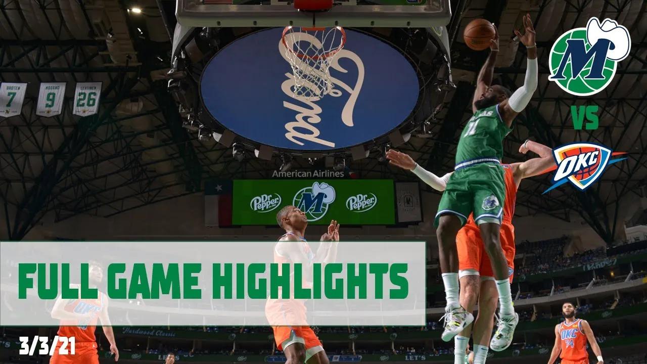 Tim Hardaway Jr. 19pts 6reb vs OKC | March 3, 2021 | 2020-21 NBA Season