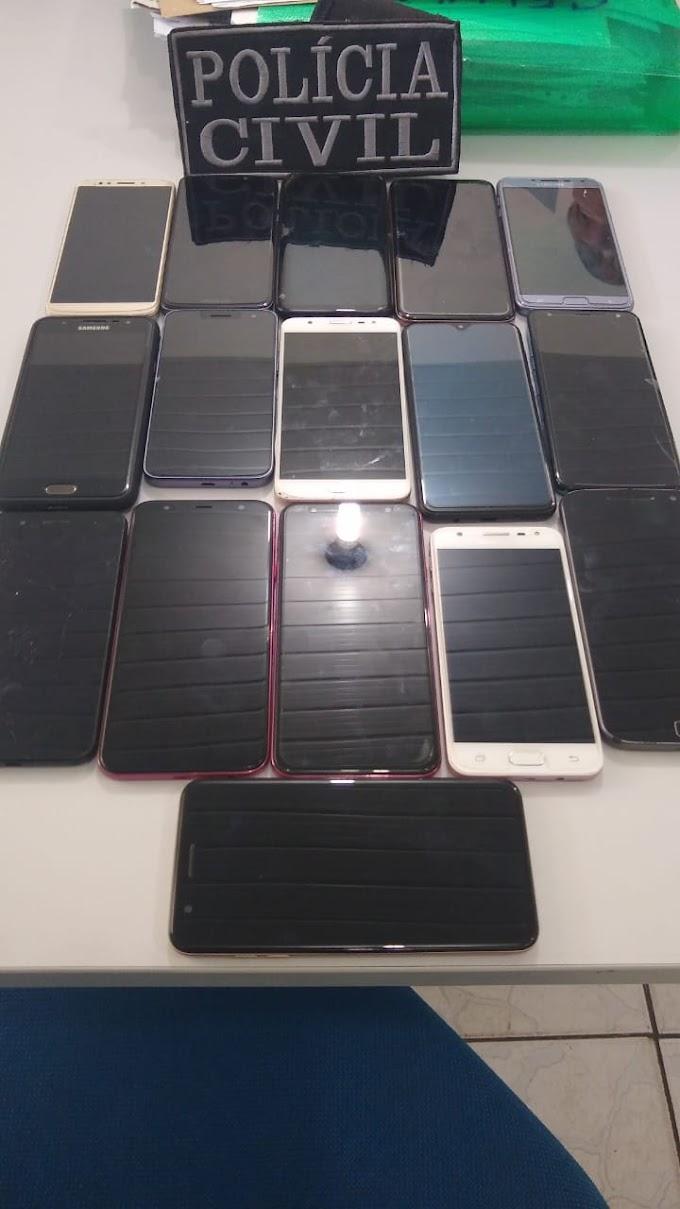 ROUBO E FURTO - Polícia Civil de Caxias recupera 25 celulares; Veja lista e modelos