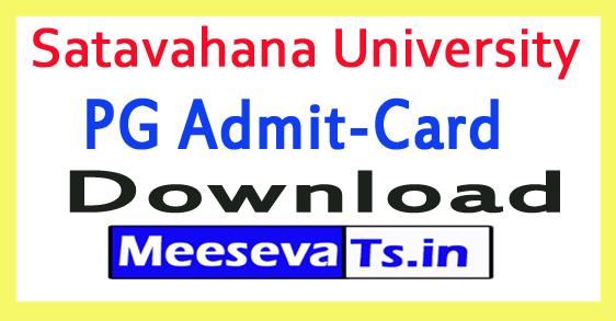 Satavahana University SU PG Exam Hall Tickets Download 2018