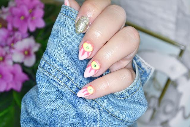 Inspiracja na wakacyjne paznokcie, letnie paznokcie. Pomysł na paznokcie