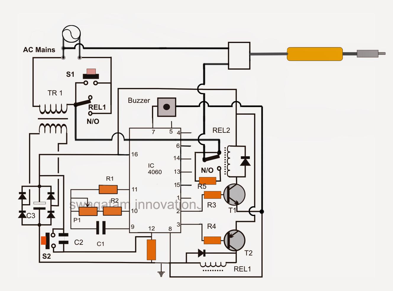Soldering Iron Wiring Diagram 30 Kva Transformer Automatic Power Shut Off Circuit
