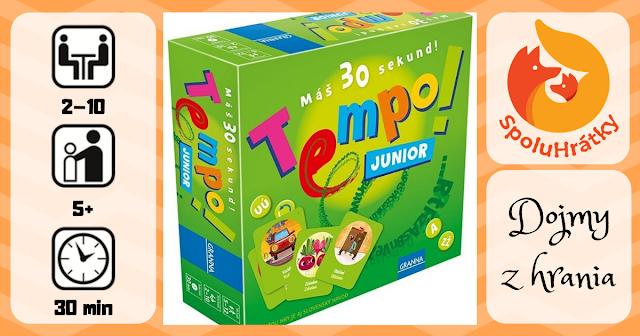 Dojmy z hry Tempo! junior na blogu spoluhratky.eu