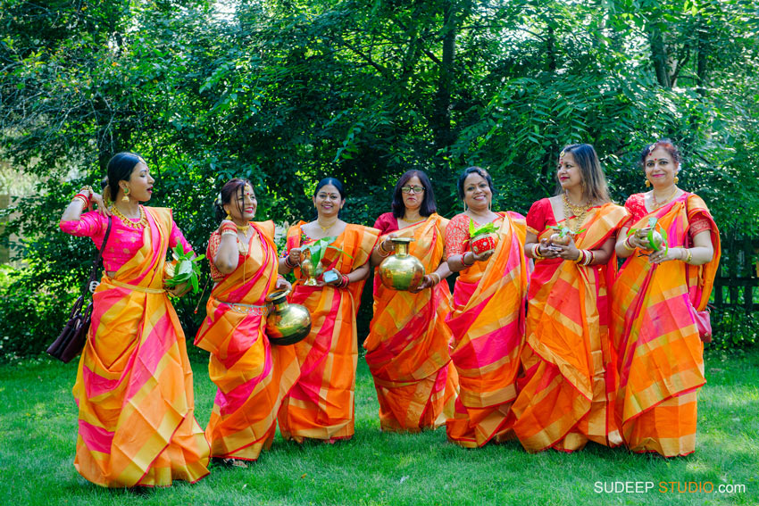 Decoration Indian Bengali Wedding Photography Bangla Gaye Holud Ceremony by SudeepStudio.com Michigan Ann Arbor South Asian Indian Wedding Photographer