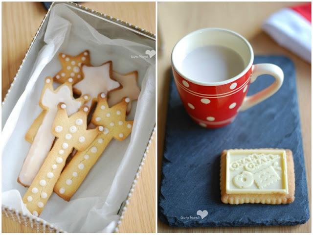 Galletas de mantequilla decoradas con glasa