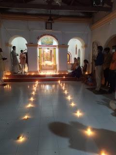 राम जन्मभूमि नींव पूजन के उपलक्ष में श्रीराम मंदिर हनुमंती वार्ड में मनाया आनंदोउत्सव पर्व