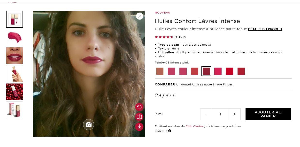 revue beauté nouveau virtual store clarins