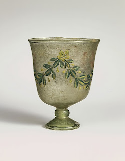 roman glass goblet