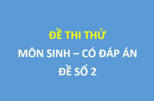 Đề thi thử môn sinh lần 4 trường THPT Yên Lạc