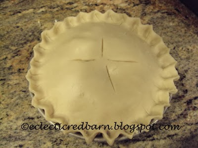Eclectic Red Barn: Turkey pot pie with top crust