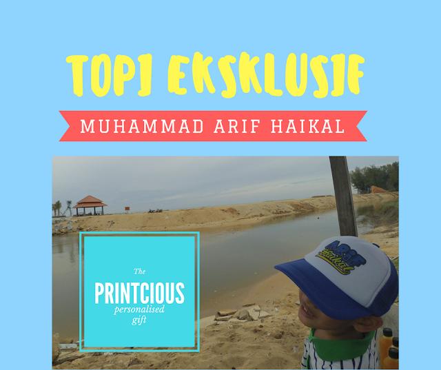 Topi eksklusif untuk Arif Haikal dari Printcious dah sampai!