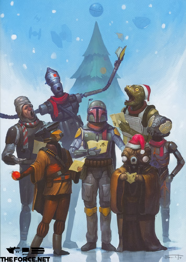 Lucasfilm 2013 Christmas Card Is Bounty Hunter Heavy.