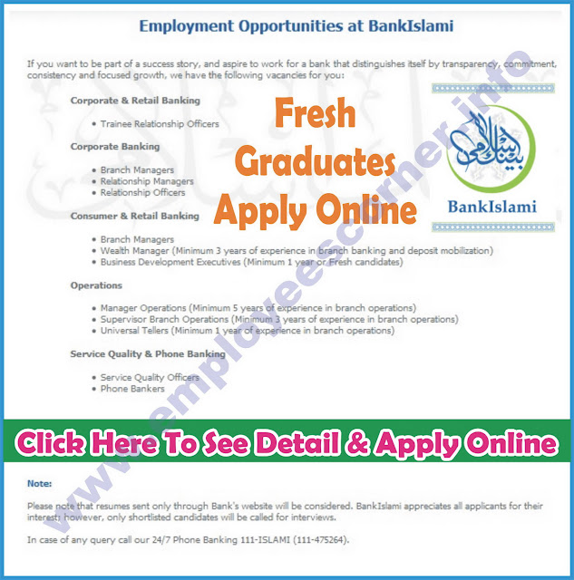 Latest Bank Jobs in Bank Islami Jobs 2016