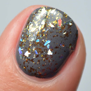 gold shard nail polish topper