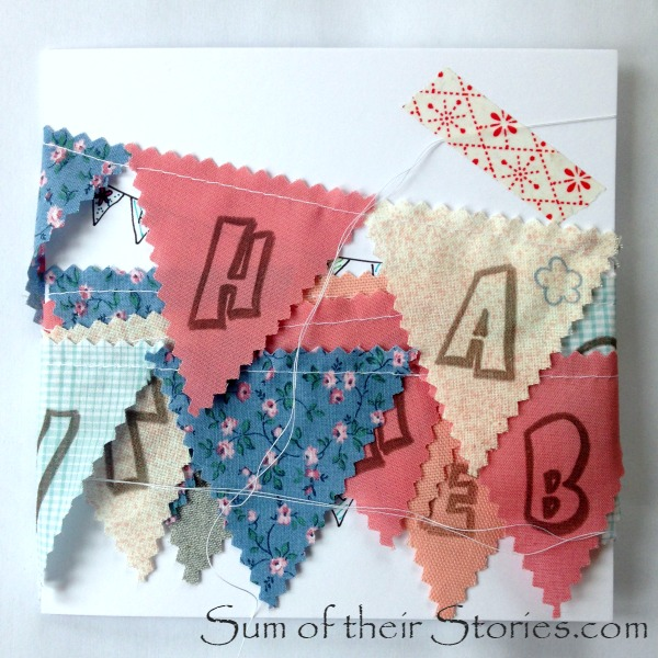Mini bunting card