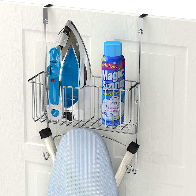 Over-The-Door/Wall-Mount Ironing Board Holder