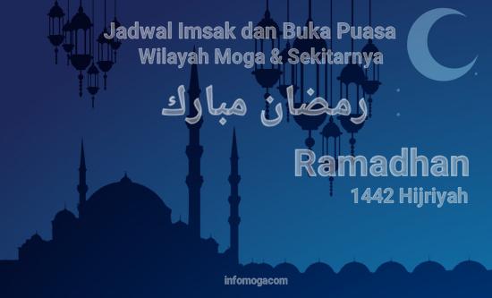 Jadwal Imsak dan Buka Kecamatan Moga Hari ke-2 Ramadan 1442 H