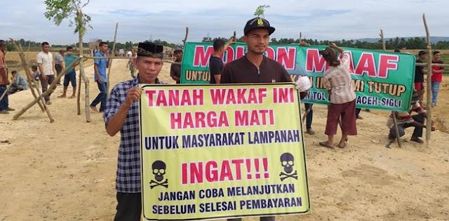 Tanah Wakaf Belum Dibayar, Warga Masih Blokir Jalan Tol Aceh