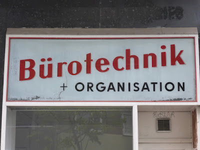 Türschild (alt) Bürotechnik und Organisation