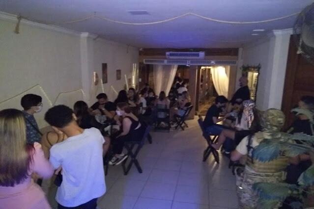 Operação da Polícia e Sema constatam funcionamento irregular de lounge bar em residência