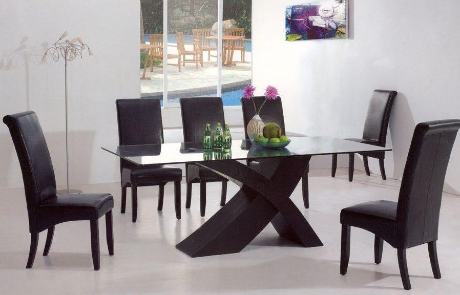 rico muebles juego de comedor de 6 sillas moderno y elegante ...