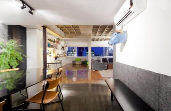 кухня-столовая в пентхаусе