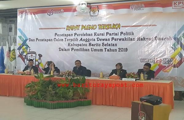 Pleno Terbuka KPU: PDIP 'Kuasai' Parlemen Barito Selatan 2019-2024
