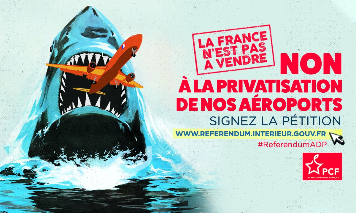 NON à la privatisation de nos aéroports