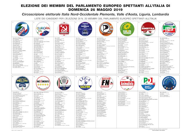 Info elezioni fac simile scheda elezioni europee 2019 for Votazioni parlamento