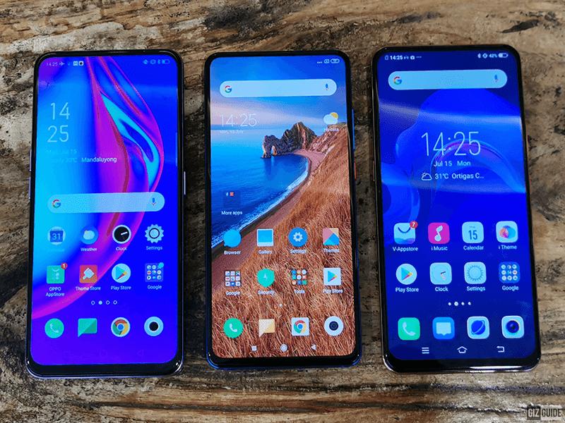 OPPO F11 Pro vs Xiaomi Mi 9T vs Vivo V15 Specs Comparison