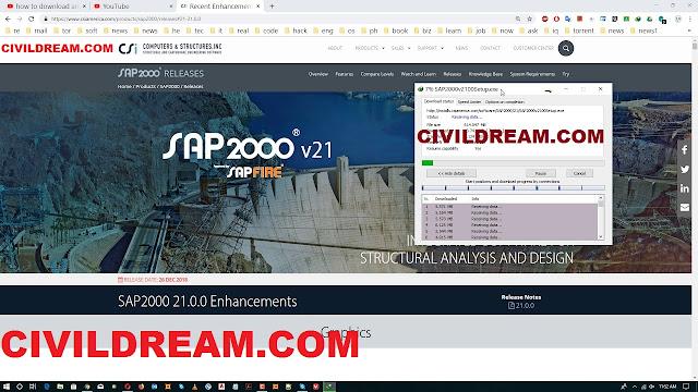 SAP2000 V21 free download تحميل برنامج الساب 21