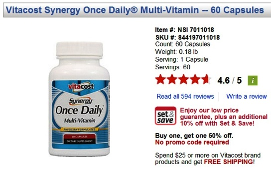 vitacost online shopping synergy multi-vitamins promo