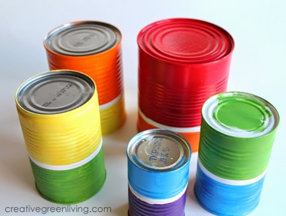 How to Make a Rainbow Wind Chime from Recycled Cans