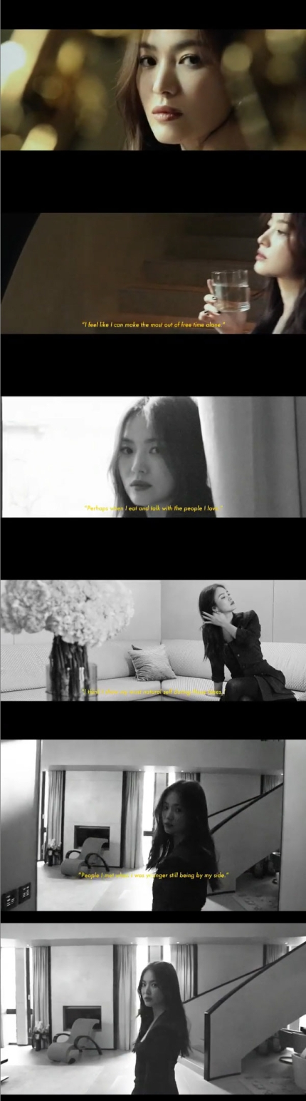 Actress Song Hyekyo personally revealed her interview on her latest Instagram update.