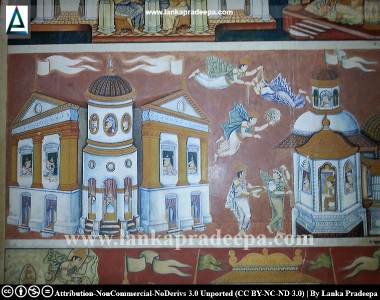 European influenced Kasagala temple paintings
