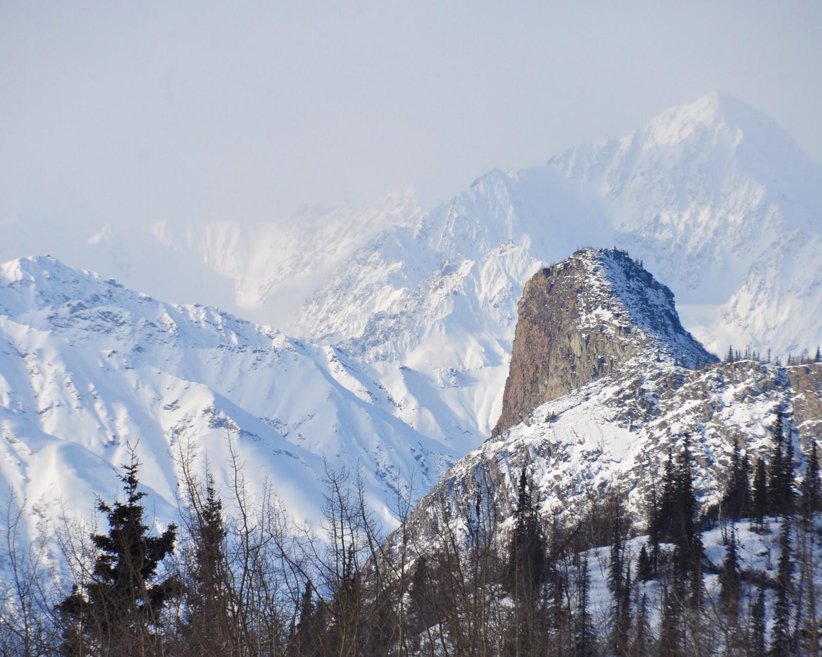 landscapes mountains snow winter