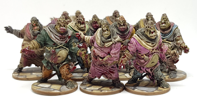 Zombicide Black Plague Painted Fatties