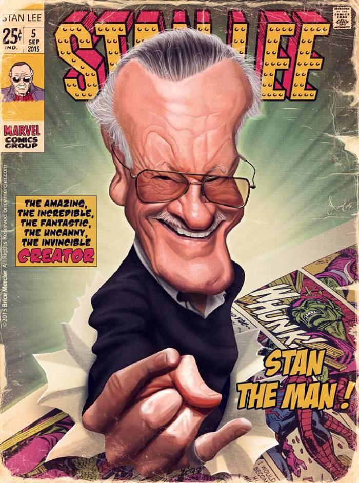 Stan Lee por Brice Mercier