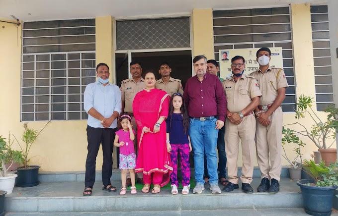 पूनम छाबड़ा ने बगरू पुलिस को बांधा रक्षा सूत्र