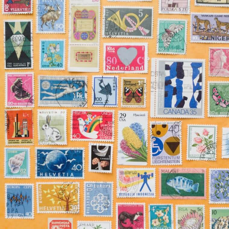 Collection of vintage world stamps | cardboardcities
