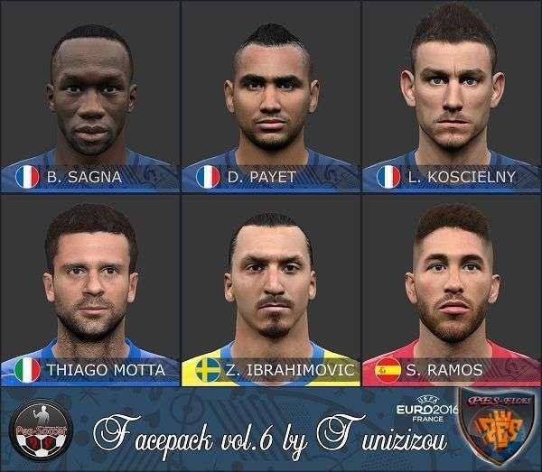 PES 2016 EURO 2016 Facepack