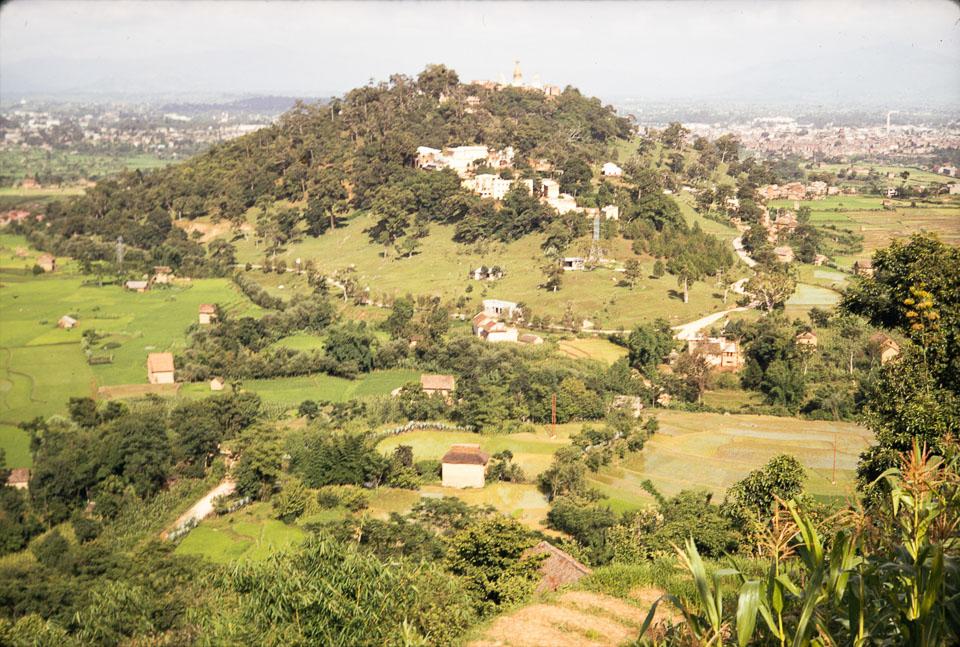 Old image of Swayambhunath