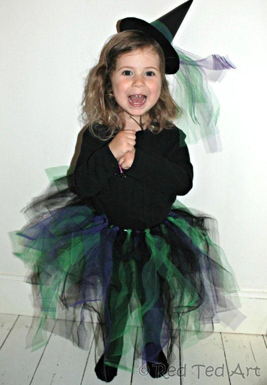 13 witch with a diy tutu what is cuter than a witch in a tutu i just love this purple green and black costume from red ted art heres the link