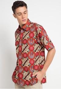 Kmeja Pria Modern Corak Batik