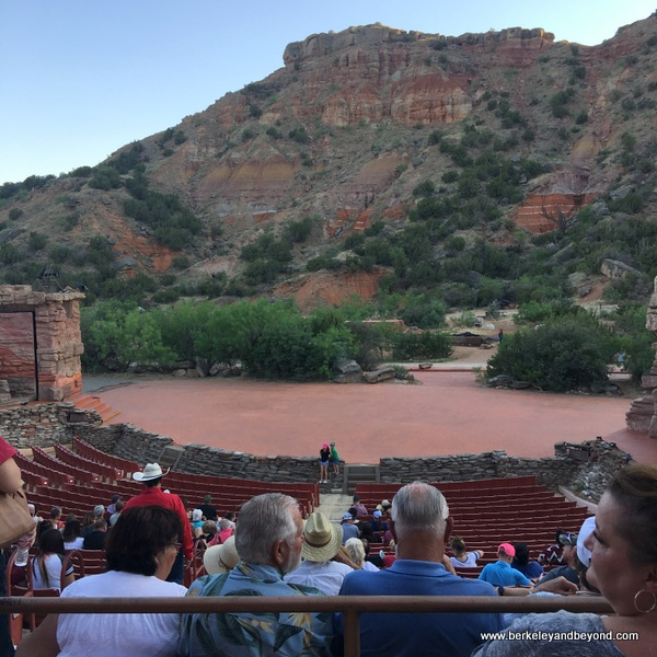 open-air stage at Texas--The Musical at Palo Duro Canyon State Park in Canyon, Texas