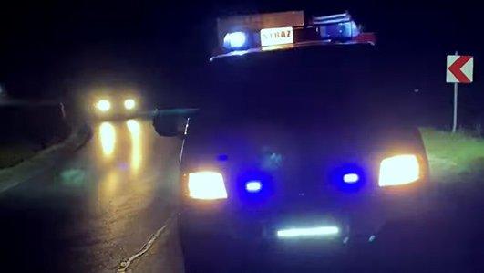 Strażacy z OSP Pułanki usuwali plamy oleju