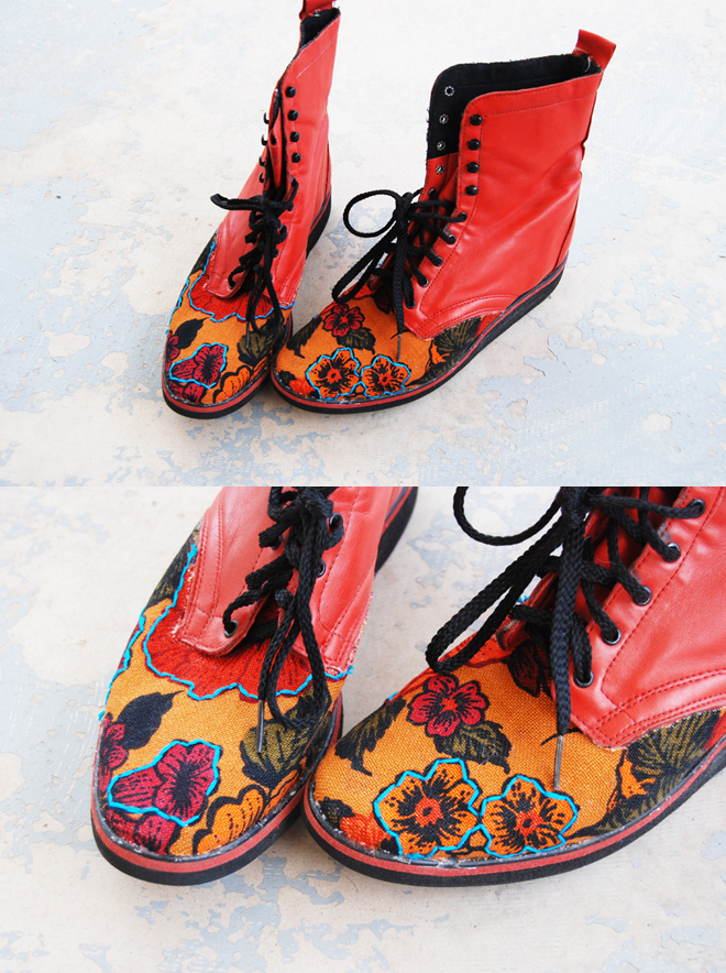 Jessamity: DIY Fabric Covered Shoes