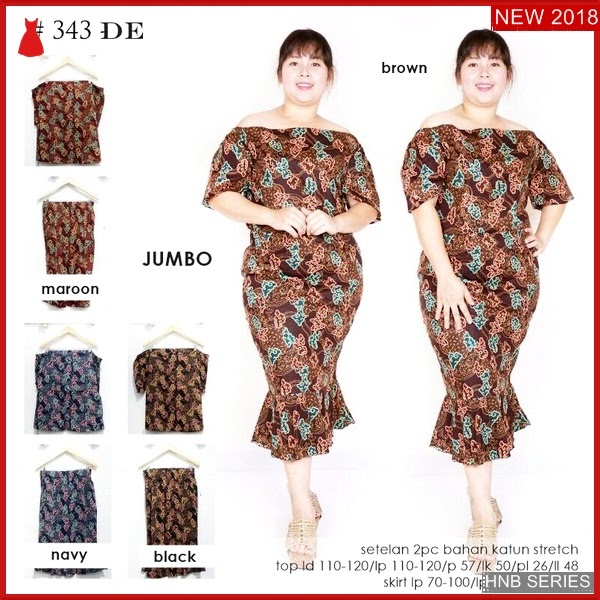 HNB190 Model Trompet Dress Ukuran Besar Jumbo Modis BMG Shop
