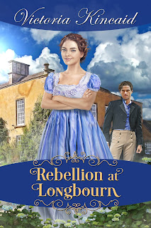 Book cover: Rebellion at Longbourn by Victoria Kincaid